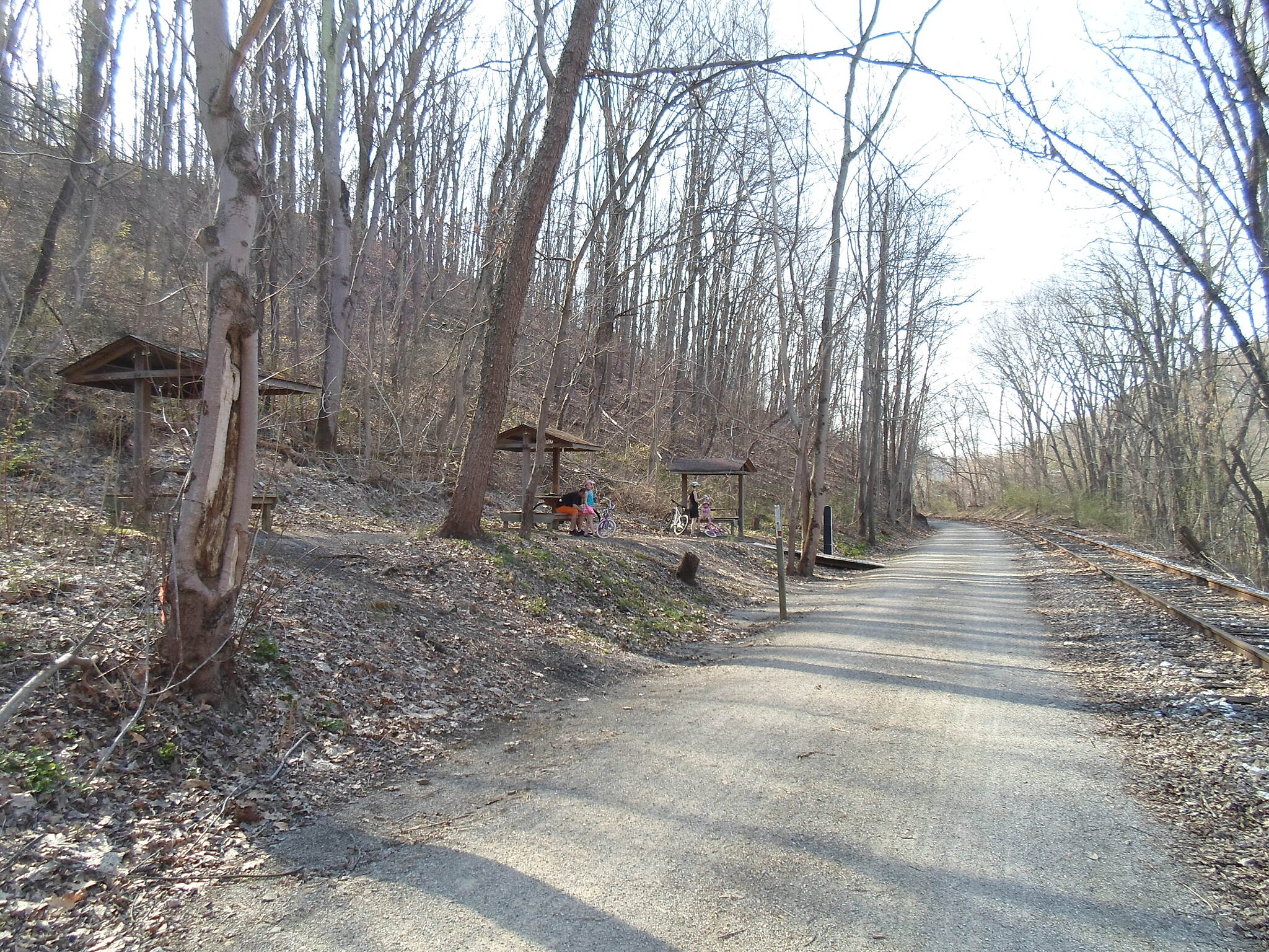 Heritage Rail Trail County Park Heritage Rail Trail Park Picnic grove off the trail in Shrewsbury Twp. between Railroad and Glen Rock. Taken April 2015.