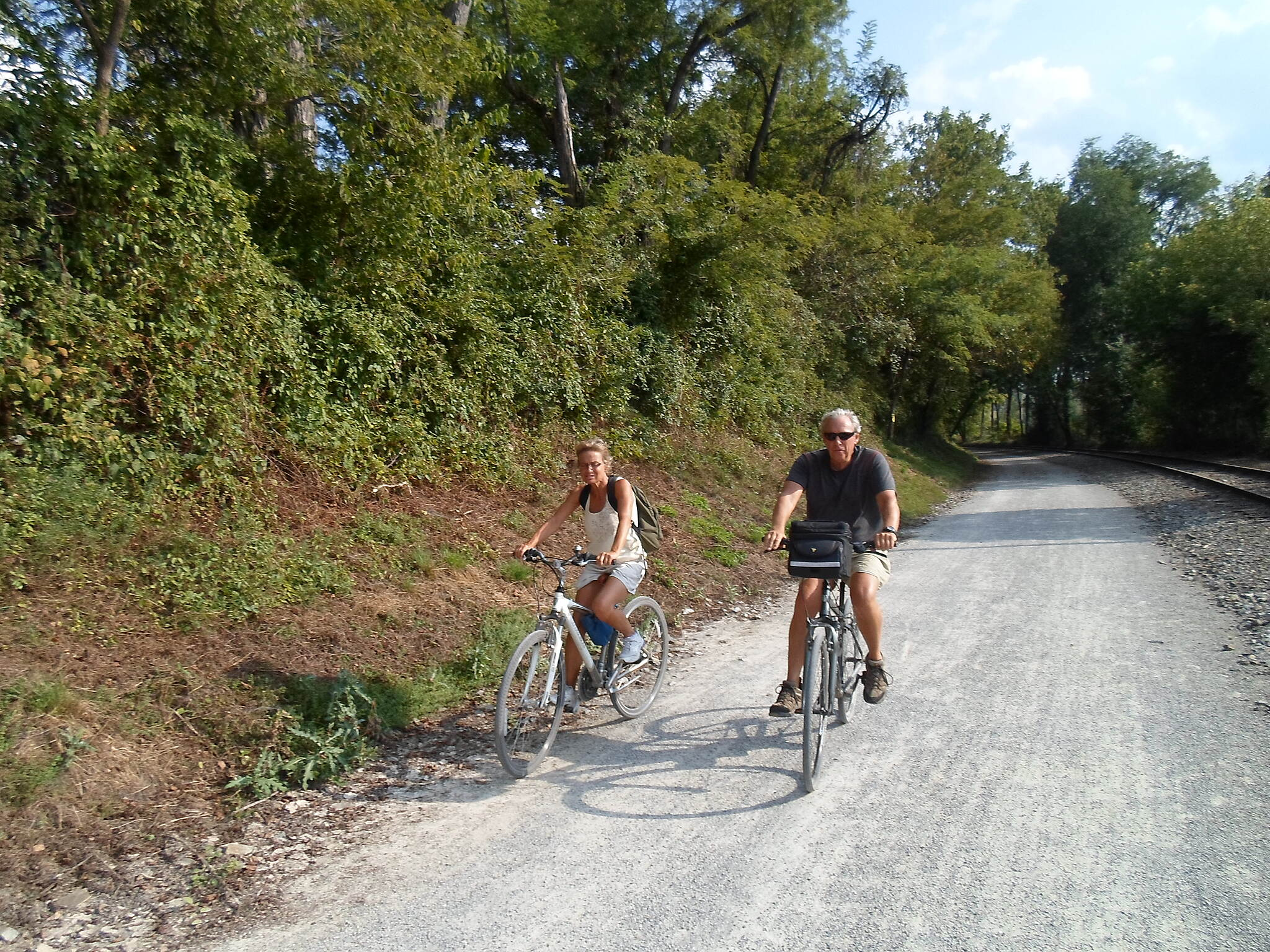 Heritage Rail Trail County Park Heritage Rail Trail This couple was enjoying a ride near Brillharts Station. Taken Sept. 2015.
