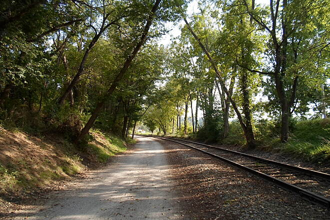 Heritage Rail Trail County Park Heritage Rail Trail Passing through cool shade near Brillharts Station. Taken Sept. 2015.