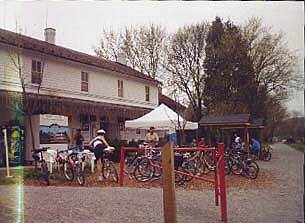 Heritage Rail Trail County Park Around mile 12 - Elmer's store Elmer's store right beside the trail at around mile 12 was a welcome sight after a really warm ride.  As you can see, there's tables right beside the trail to rest and enjoy some refreshments.