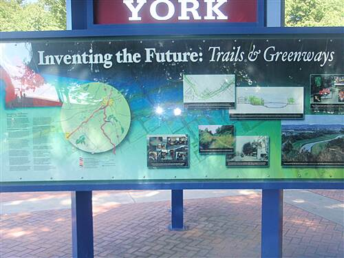 Heritage Rail Trail County Park York County Greenway Plans It may be hard to read, but this sign, located in downtown York, describes the county's emerging greenway network, of which the Heritage Rail Trail will serve as the main 'trunk'
