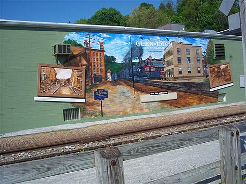 Heritage Rail Trail County Park York County Heritage Rail Trail Better view of the mural, which depicts the borough as it appeared in the railroad's heyday