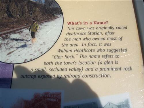 Heritage Rail Trail County Park York County Heritage Rail Trail Another interpretive sign, explaining how the town of Glen Rock got its name