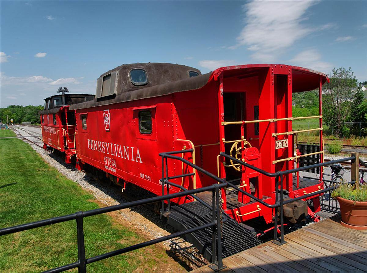 Heritage Rail Trail County Park Caboose In New Freedom A Really Red Caboose!