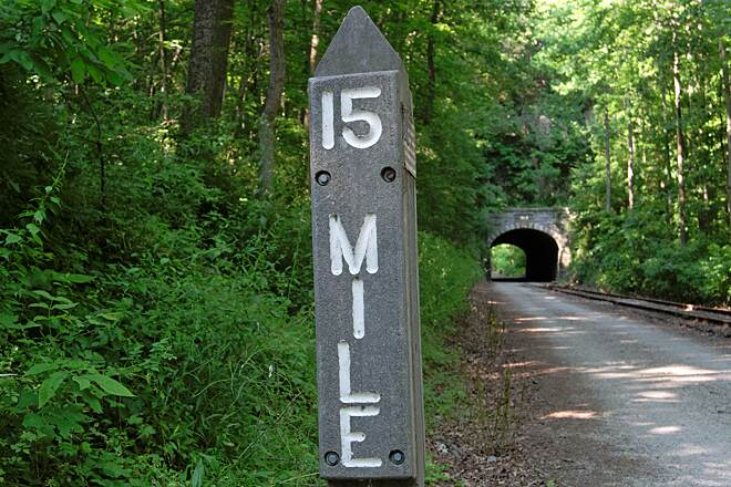 Heritage Rail Trail County Park Mile Post 15 and The Howard Tunnel The Southern Tunnel Entrance