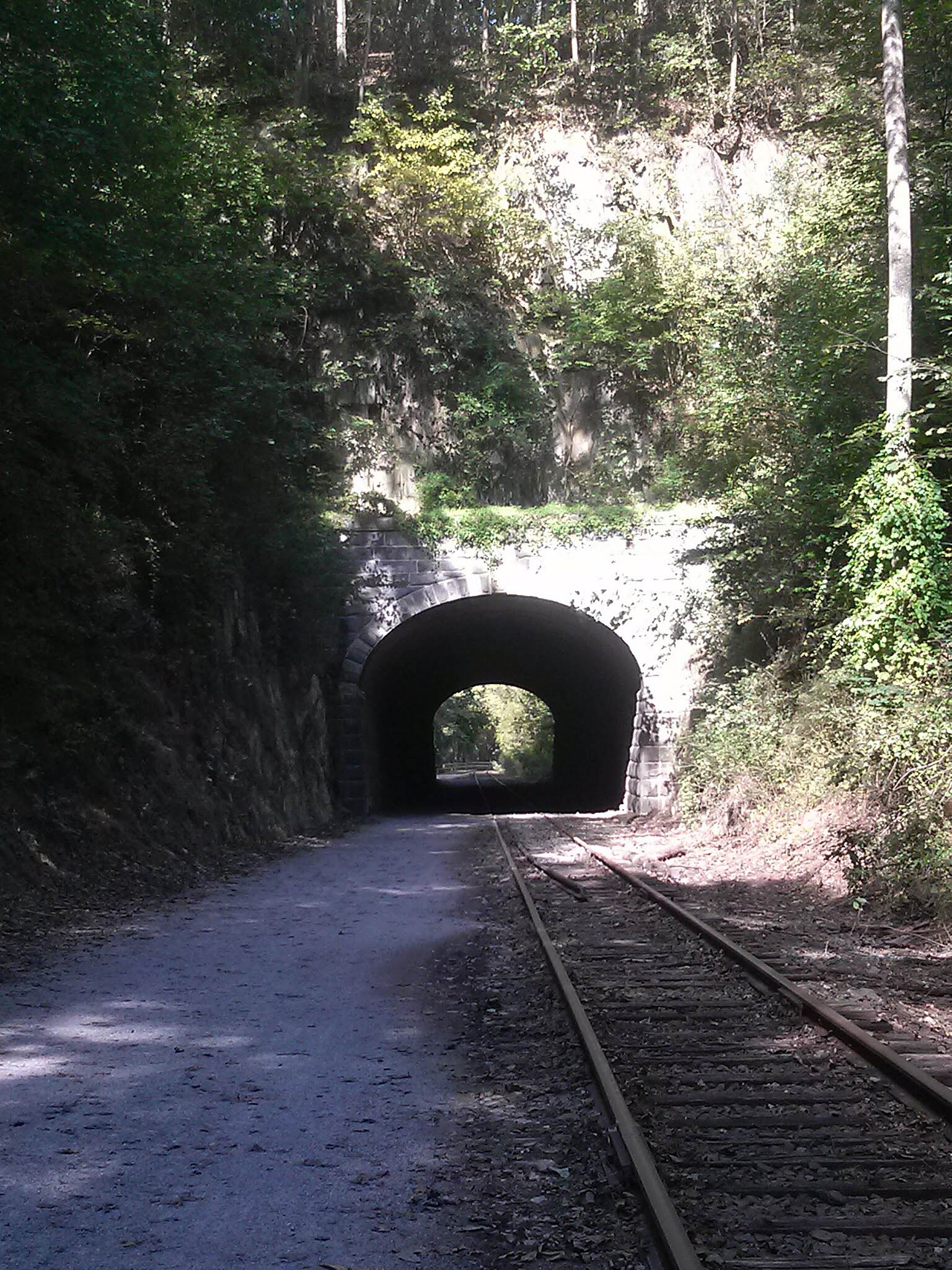 Heritage Rail Trail County Park tunnel Beautiful day for a ride!!!