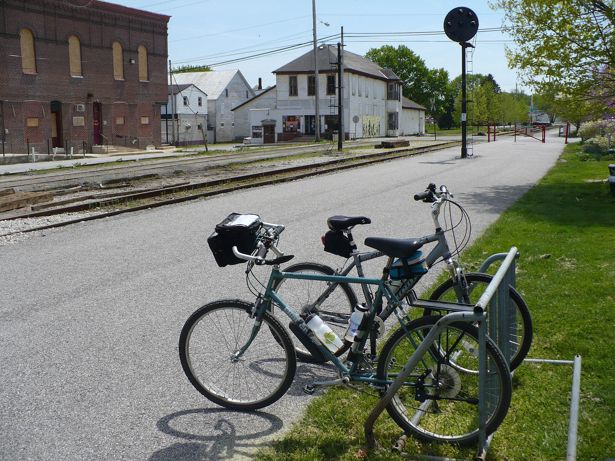 Heritage Rail Trail County Park lunch break harold and dave enjoyed the trail, lunch and the whistle stop bike shop