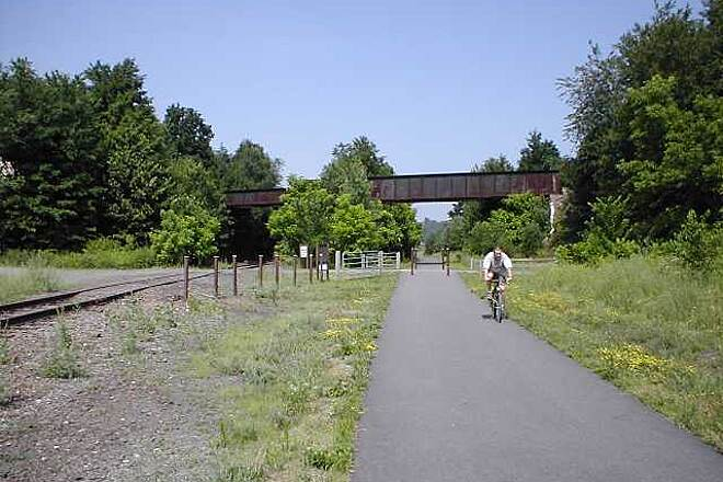 Heritage Trail (aka Orange Heritage Trail) Orange Heritage Trail Trail surface near active railroad siding in Chester, NY.