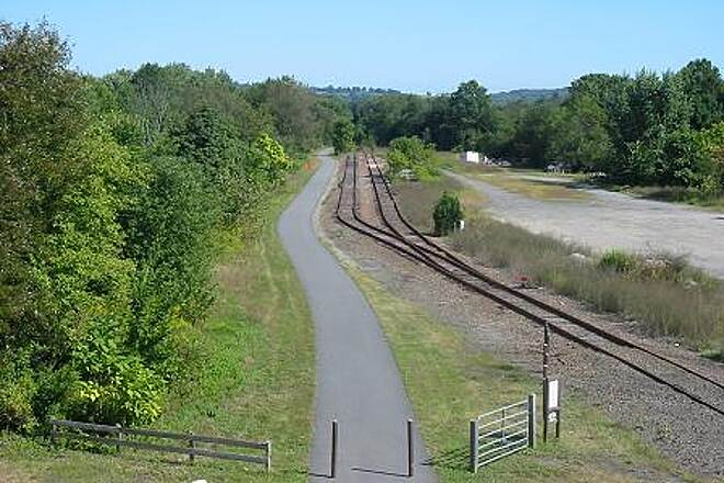 Heritage Trail (aka Orange Heritage Trail) Orange Heritage Trail An overhead view of the trail and active rail siding near Chester.