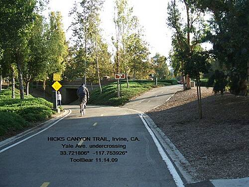 Hicks Canyon Trail HICKS CANYON TRAIL, IRVINE, CA Love those underpasses for a seamless ride.