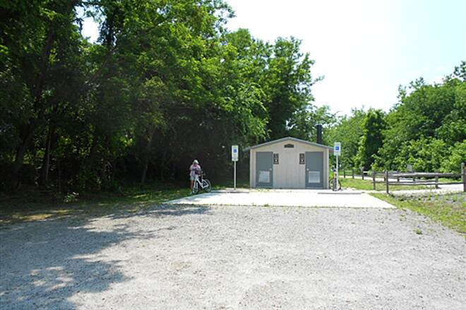 High Bridge Trail   Restrooms at parking area in Rice