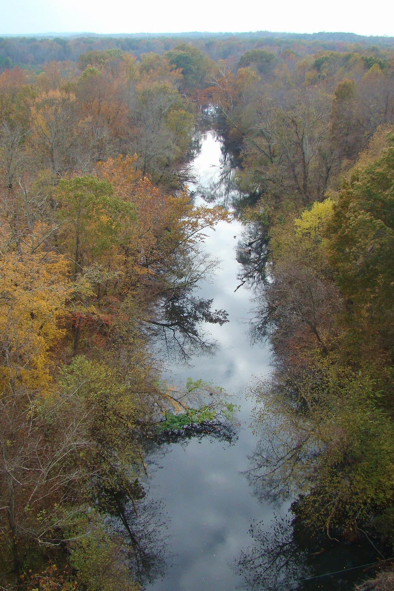 High Bridge Trail Appomattox River Looking south from the bridge downdown to the Appomattox River, 10/30/13