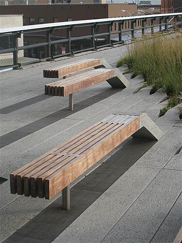 High Line The High Line High Line benches organically connected to the surface of the trail