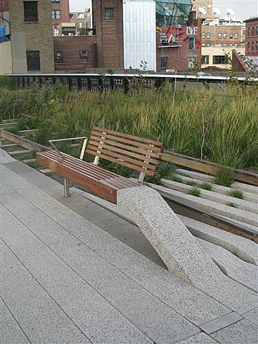 High Line High Line A bench on the High Line suspended in air symbolizing the High Line itself