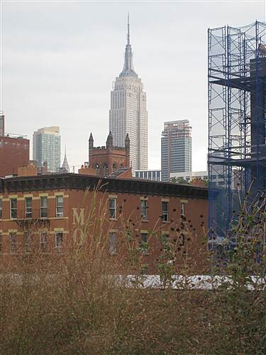High Line High Line View of Empire State Building around 18th street stairs