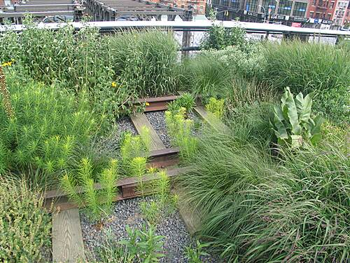 High Line Evoking History A garden grows through unused tracks