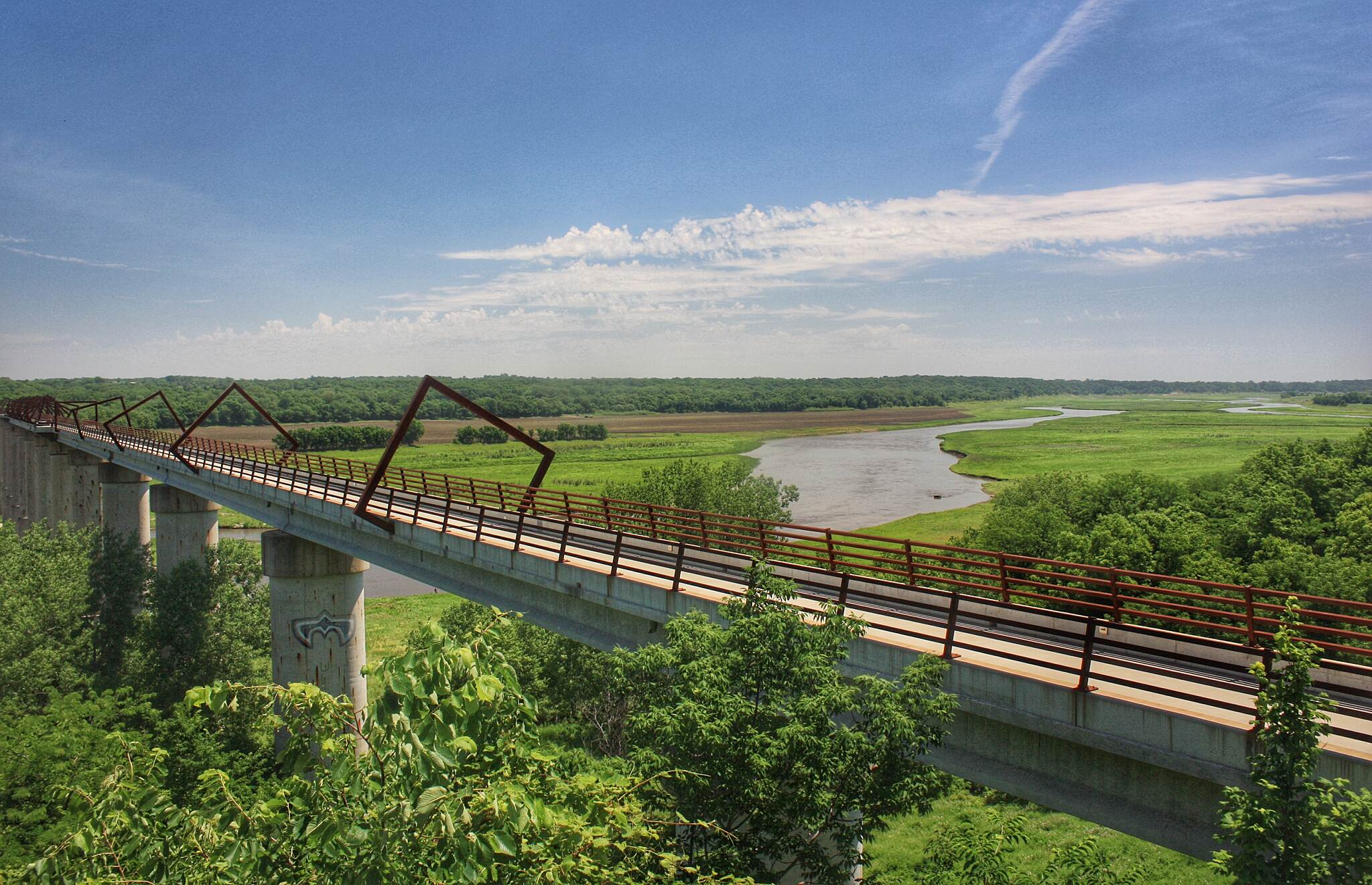 High Trestle Trail High Trestle Trail Beautiful ride on a hot summer day!