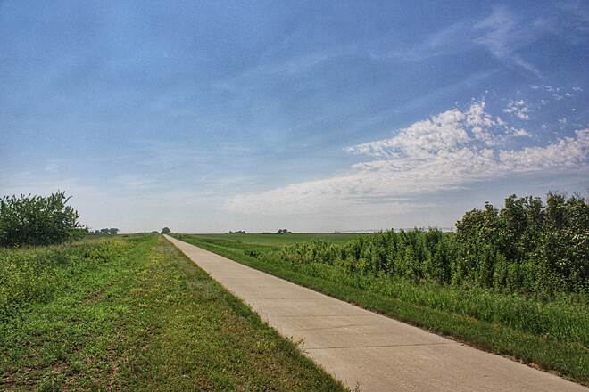 High Trestle Trail High Trestle Trail Wide open spaces of Iowa farmland, away from the trestle.