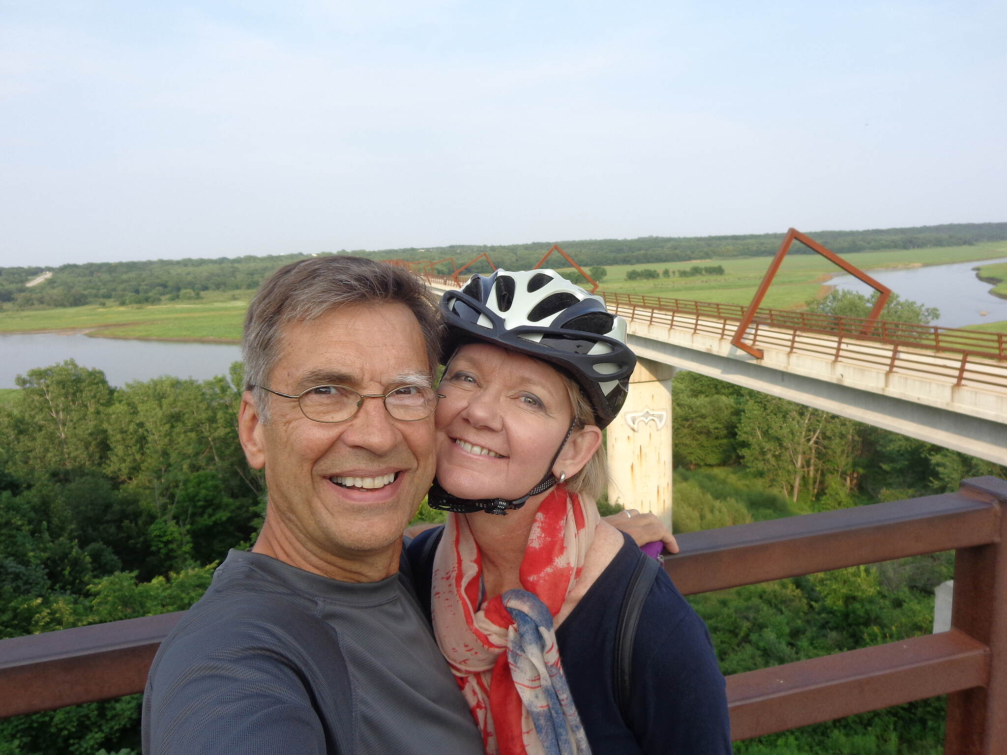 High Trestle Trail July 4th, 2015 Great trail and bridge