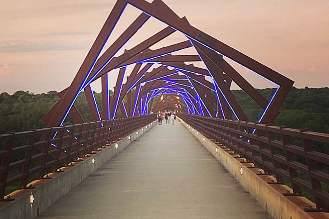 High Trestle Trail The Bridge at sunset!