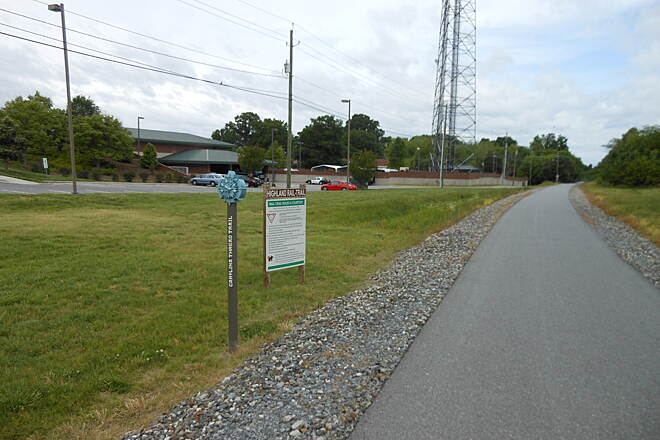 Highland Rail Trail Highland Rail-Trail, Gastonia, Near the intersection of Broad St. and Long Ave.