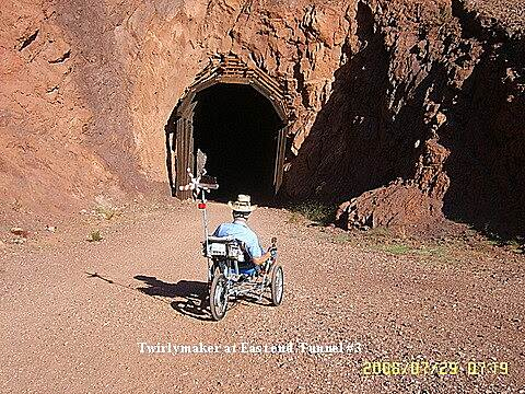Historic Railroad Trail Tri-Cruiser Approaching East end of Tunnel
