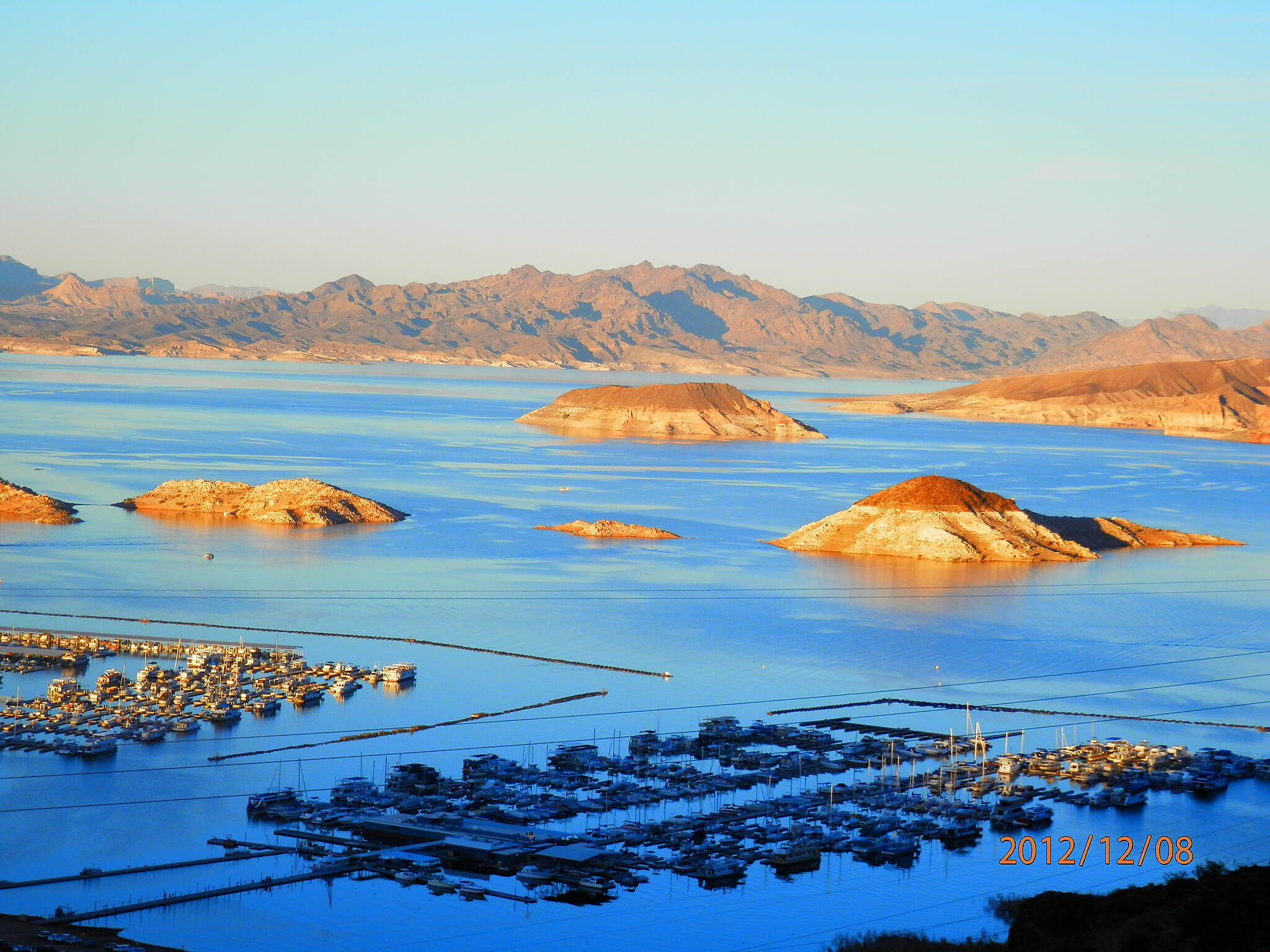 Historic Railroad Trail Sunset over Lake Mead