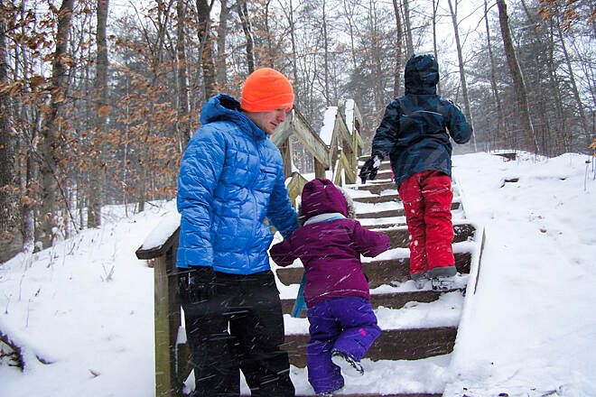 Historic Smithville Park Trails Winter time Out with the kids in the snow. Nice, easy trails, even in this weather.