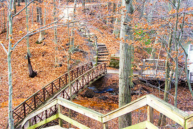 Historic Smithville Park Trails stairs