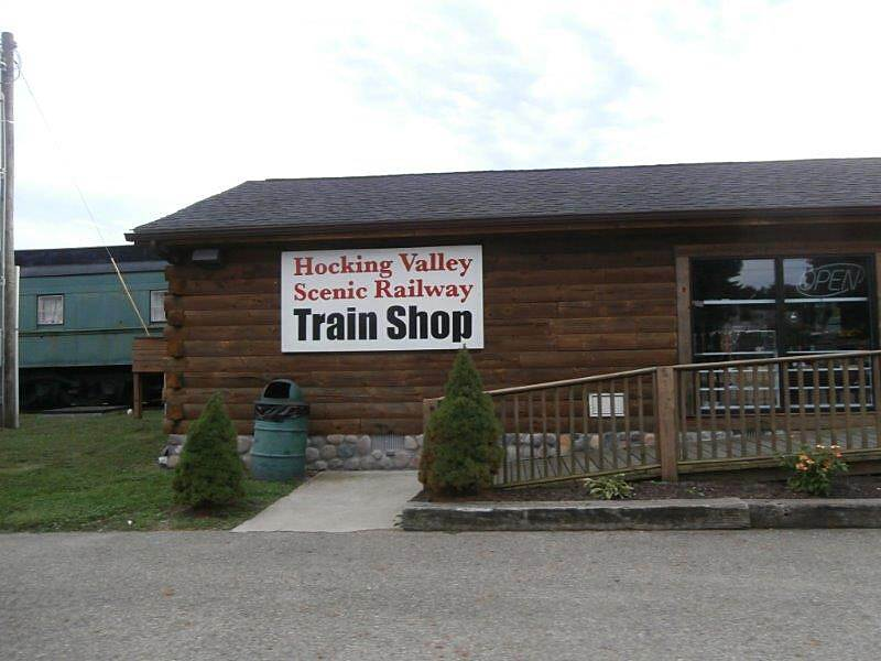 Hockhocking Adena Bikeway Railroad Railroad offers scenic rides.  Just off the trail