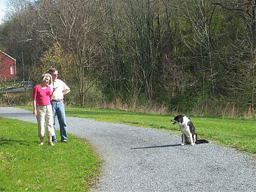 Hollow Creek Greenway Hollow Creek Greenway Couple and their dog, enjoying the trail.