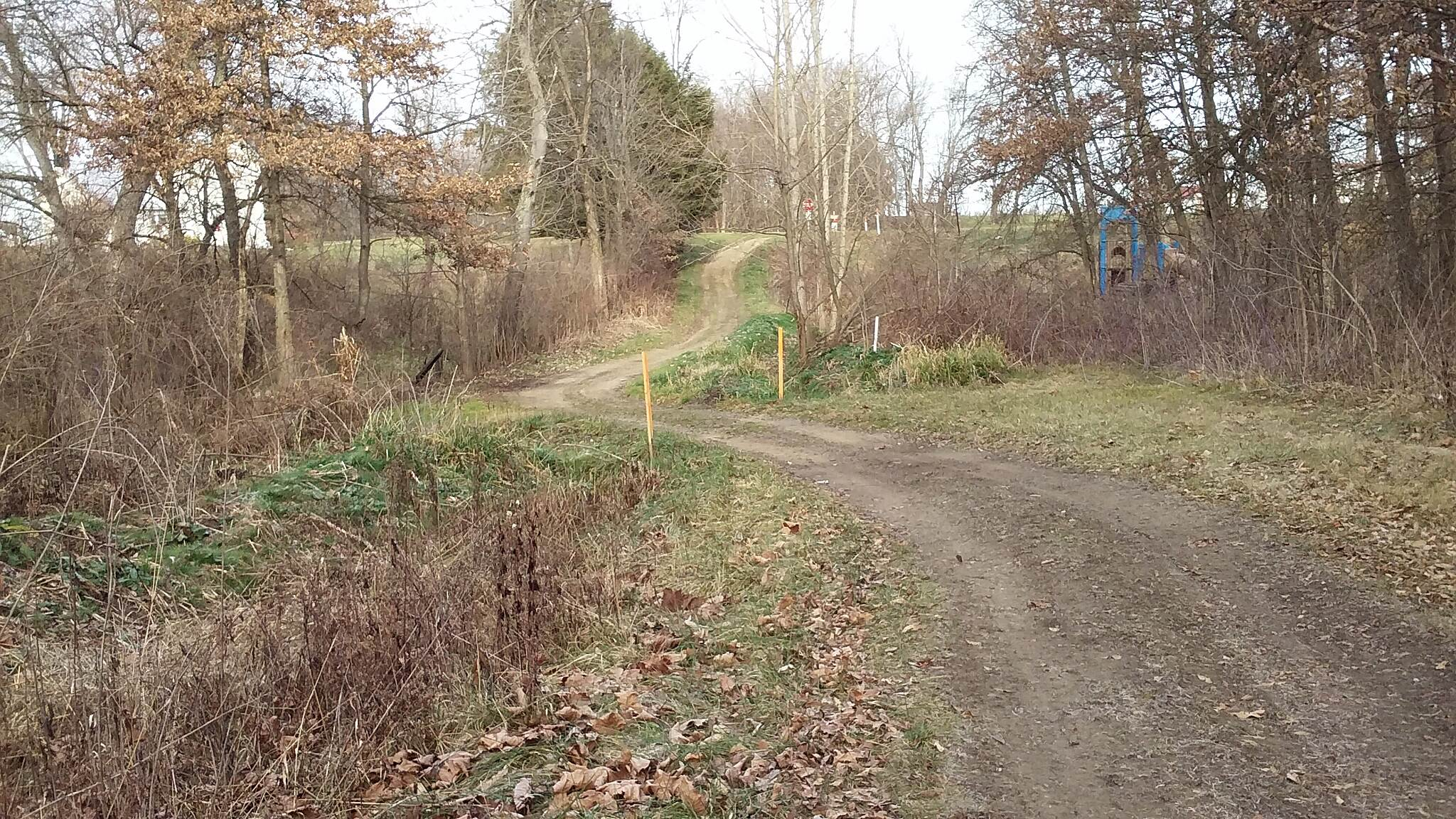 Holmes County Trail Northbound December 2015 Brinkhaven to Killbuck unpaved RR Right of Way,