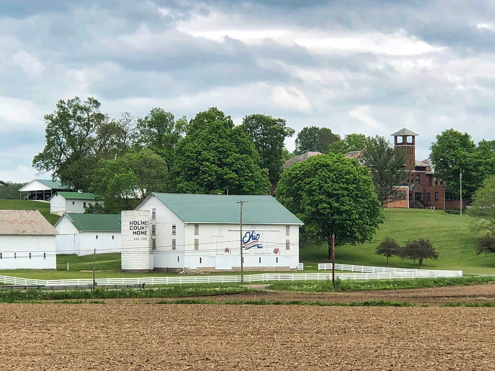 Holmes County Trail The Holmes County Home A view of the Holmes County Home complex from the trail.  May 18, 2018.