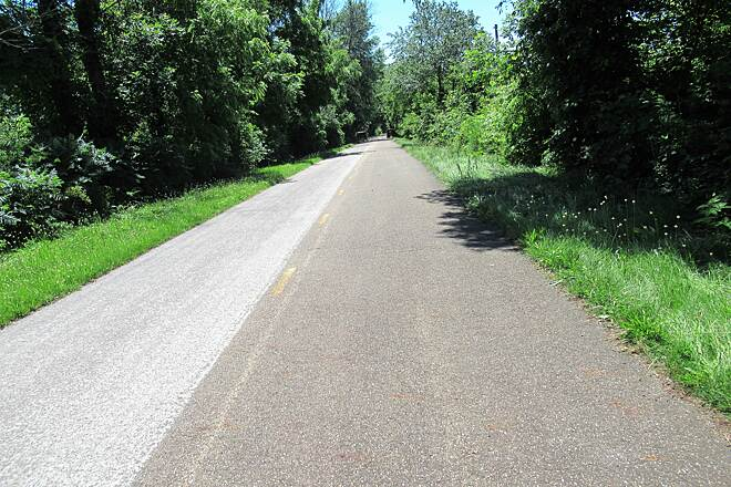 Holmes County Trail Flat and Fast-June 2019 Paved asphalt-June, 2019.