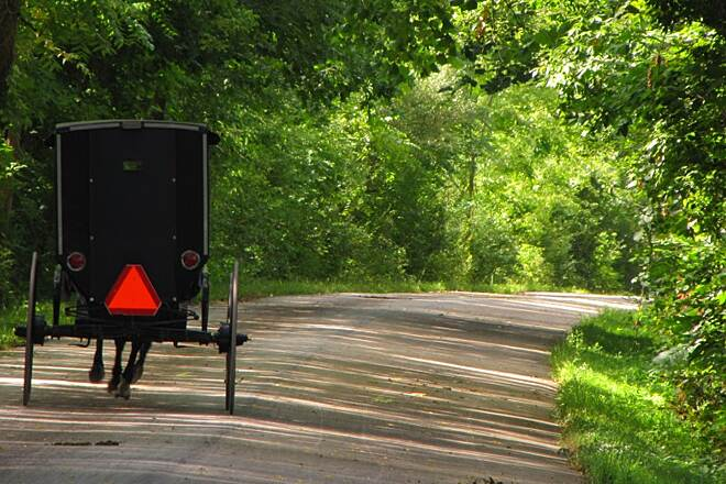Holmes County Trail Holmes County Trail Amish Buggy Along Trail