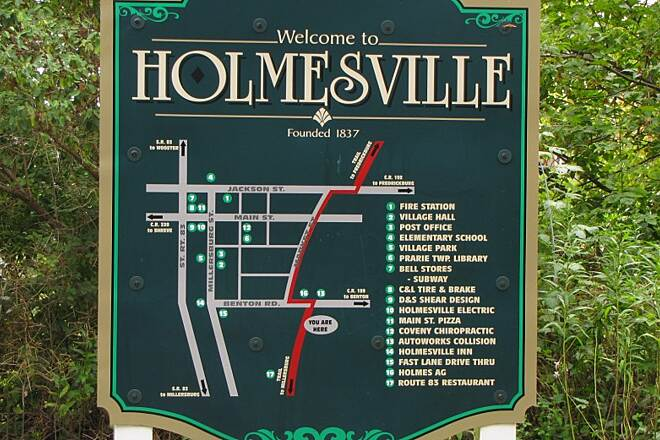 Holmes County Trail Holmes County Trail Holmesville Map just before Holmesville