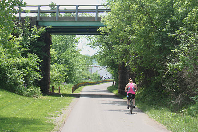 Holmes County Trail Holmes County Trail paved both sides, one for bikes and one for horses