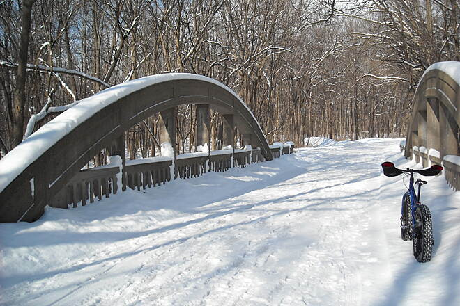 Hononegah Recreation Path 1925 Bridge in HFP Ride into the Hononegah Forest Preserve and check out the Marsh Rainbow Arch bridge over Dry Run Creek in Hononegah Forest Preserve. It was built in 1925.