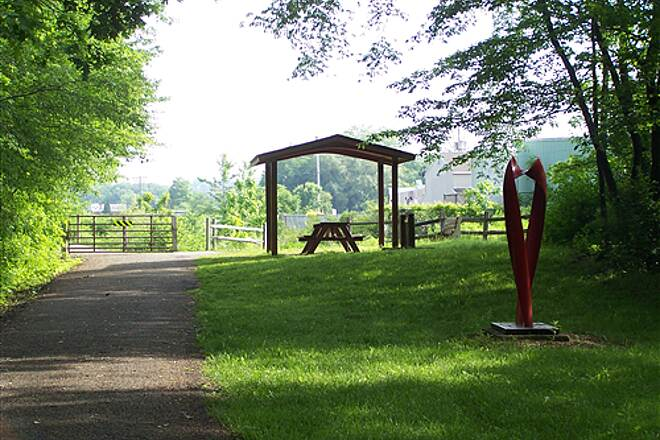 Hoodlebug Trail  Pavilion and art work along trail
