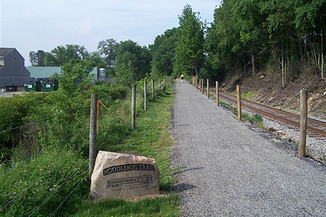 Hoodlebug Trail  Hoodlebug Trail alongside a railroad