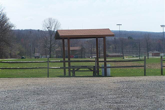 Hoodlebug Trail Red Barn Access & Pavilion Pavilion at Red Barn access point