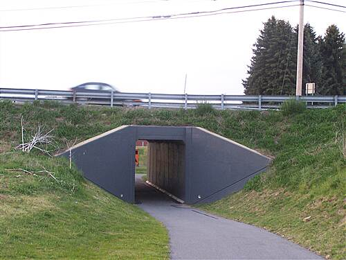 Hoodlebug Trail  Underpass south of Indiana