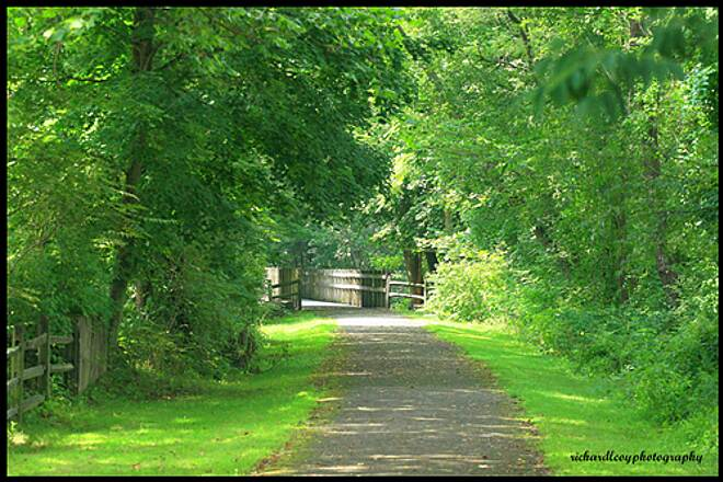 Hoodlebug Trail Hoodlebug access point Homer City, Pa Dridge over yellow creek