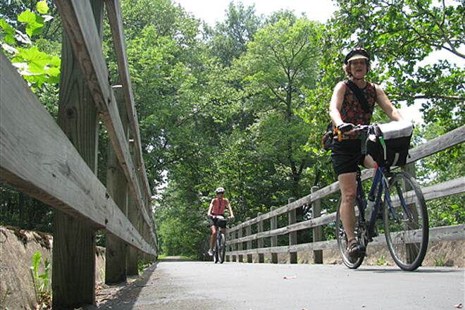 Hoodlebug Trail Bridge along the Hoodlebug Trail Hoodle bug trail south of Indiana, PA
