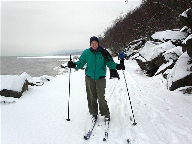 Hook Mountain/Nyack Beach Bikeway Skiing There was some great skiing along the Hudson River on this snowy day.