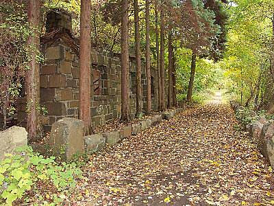 Hook Mountain/Nyack Beach Bikeway Old Ruins The trail passes ruins of old buildings.