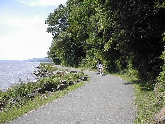 Hook Mountain/Nyack Beach Bikeway Hook Mountain/Nyack Beach Bikeway A view of the lower trail along the Hudson River.