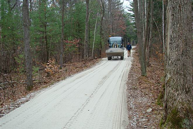 Hooksett Rail Trail Trail now has stone dust surface - from Rte 3 to east end Trail surface is now smooth and hard packed