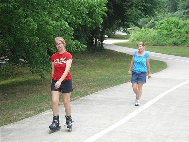 Hot Springs Creek Greenway Trail Skater Late Spring Photo provided by the Hot Springs Parks and Recreation Staff.