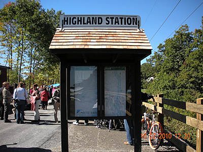 Hudson Valley Rail Trail Highland Station Kiosk the kiosk at the east end